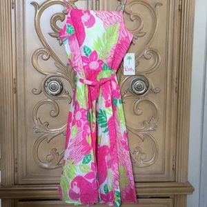 Lilly Pulitzer pink ports of caw Dress NWT 8